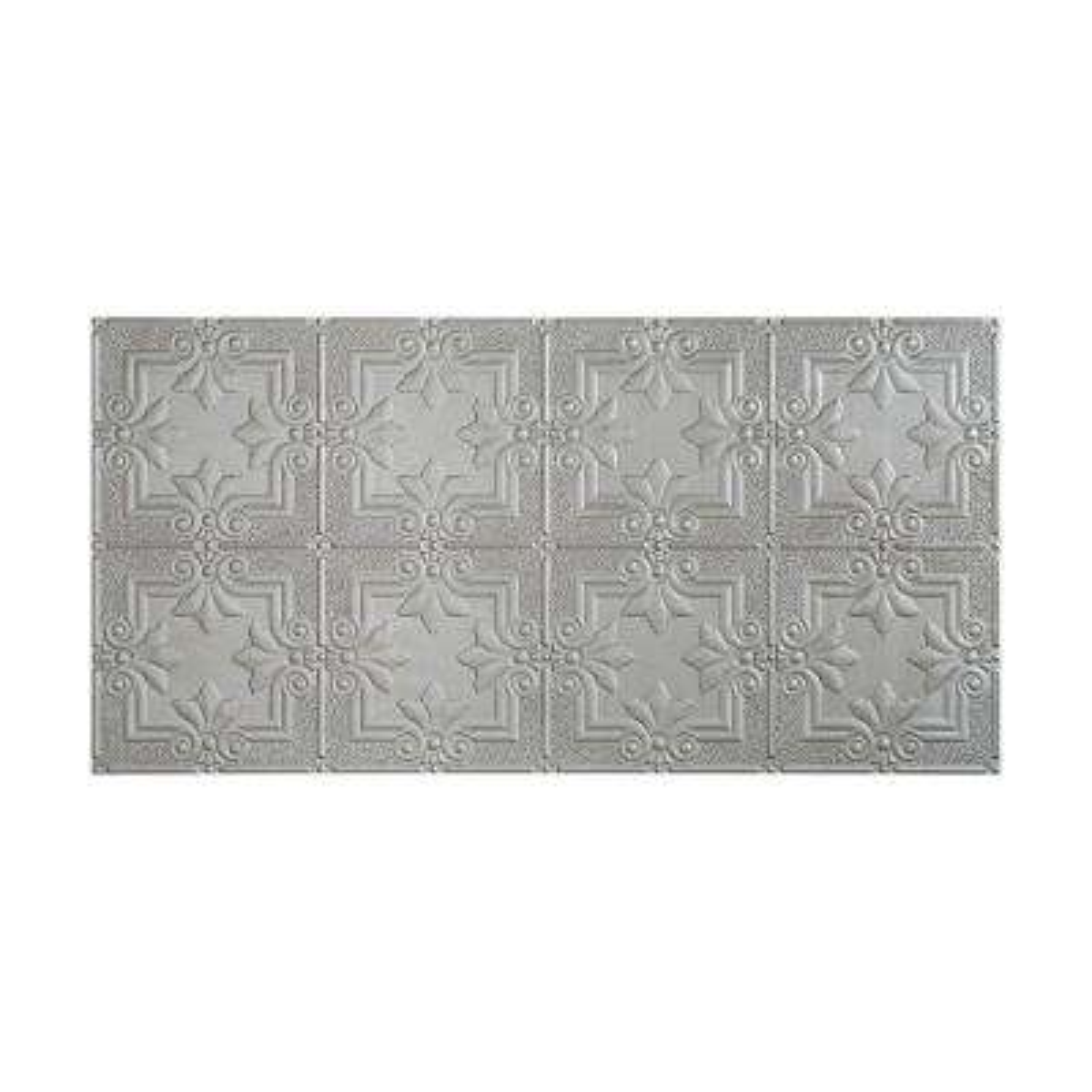 Regalia 2 ft. x 4 ft. Glue-up Ceiling Tile in Argent Silver