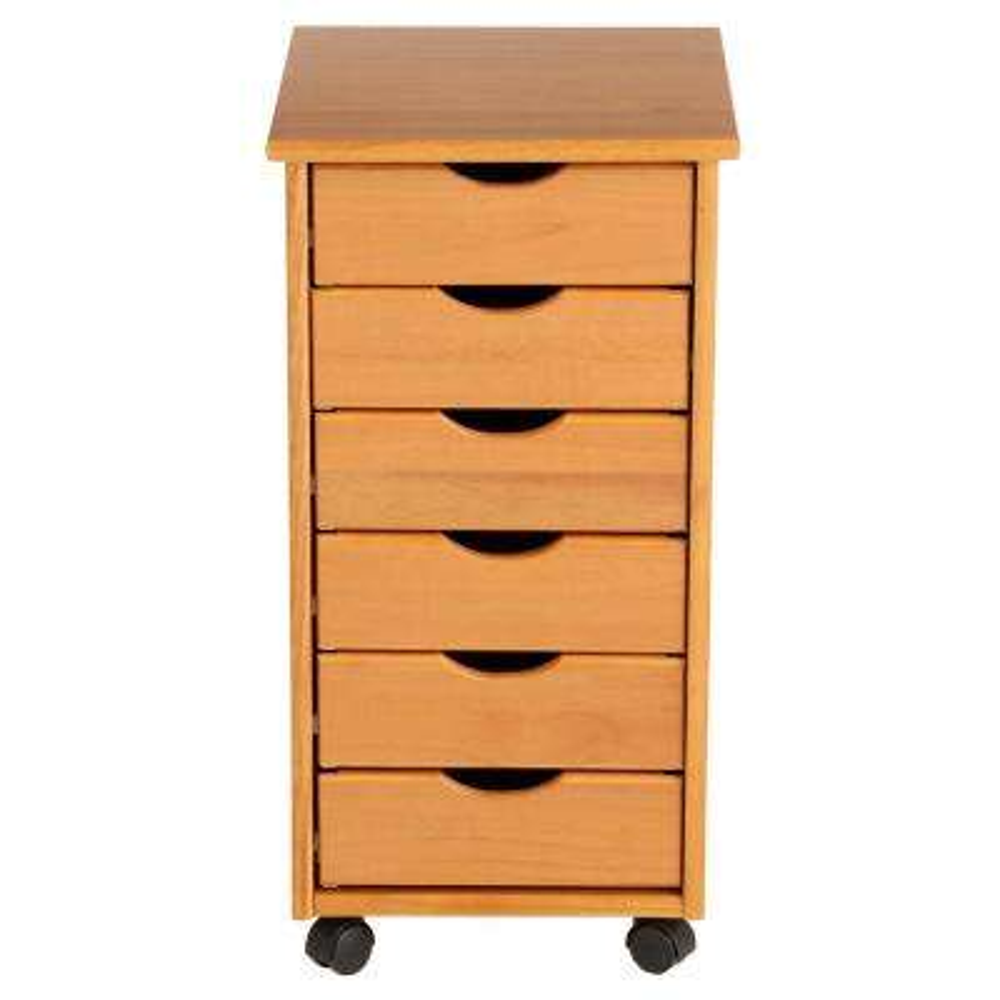 Pine Mobile Storage Cart