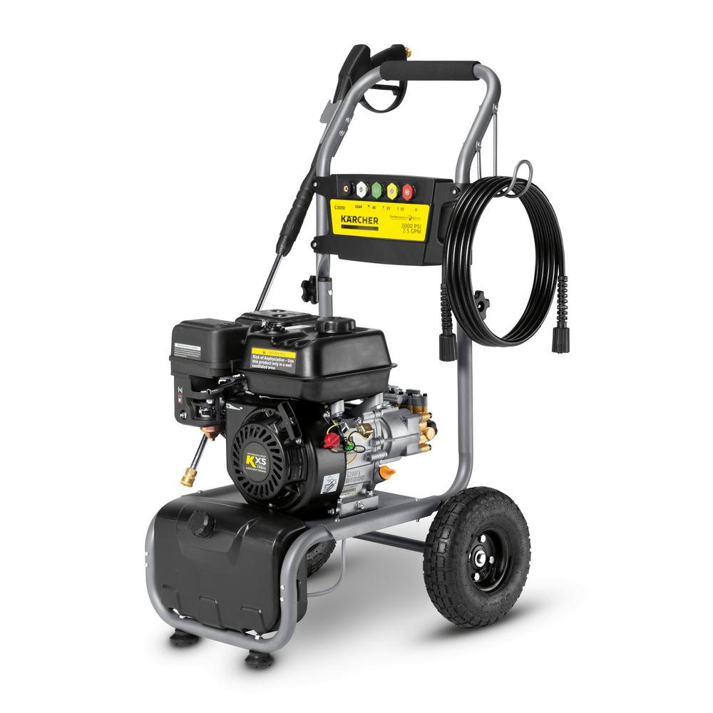3000 psi pressure washer karcher performance series 3000 psi 2 5 gpm gas pressure 28579