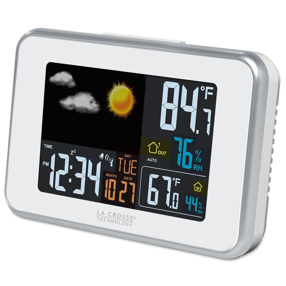 La Crosse Technology 6 in. White Color Forecast Station