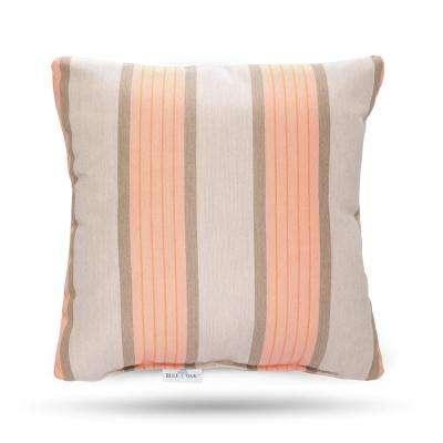 Sunbrella Cove Cameo Square Outdoor Throw Pillow (2-Pack)