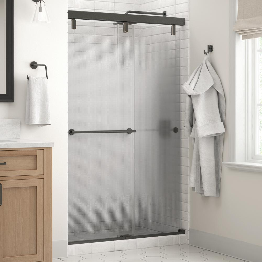 Delta Silverton 48 X 71 1 2 In Frameless Mod Soft Close