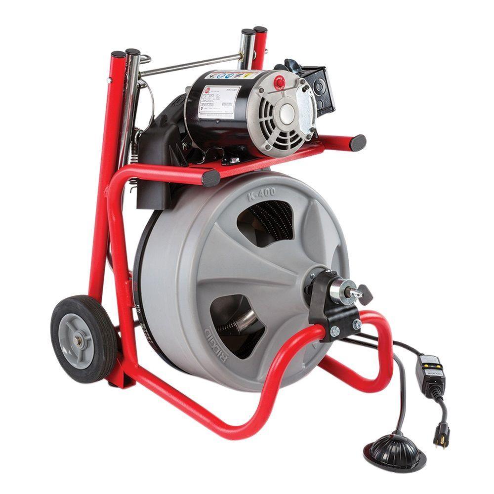 Ridgid 115 Volt K 400 Drain Cleaning Drum Machine With C