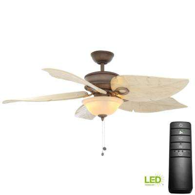 Costa Mesa 56 in. LED Weathered Zinc Ceiling Fan with Light Kit and Remote Control