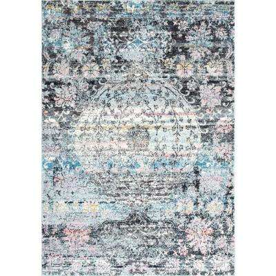 Vintage Fading Medallion Myriam Multi 5 ft. 3 in. x 7 ft. 9 in. Area Rug