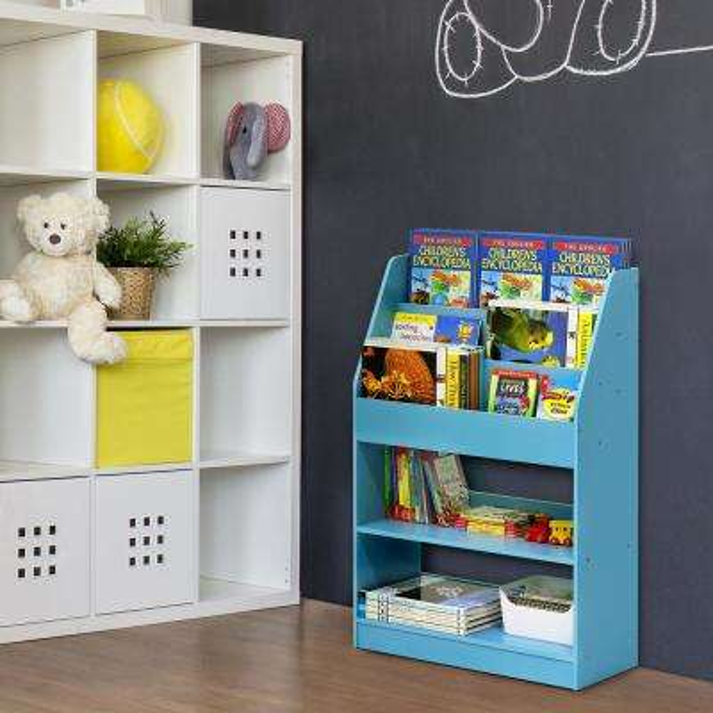 home office light fixture kidkanac light blue toy storage bookshelf bookcases home office furniture the depot