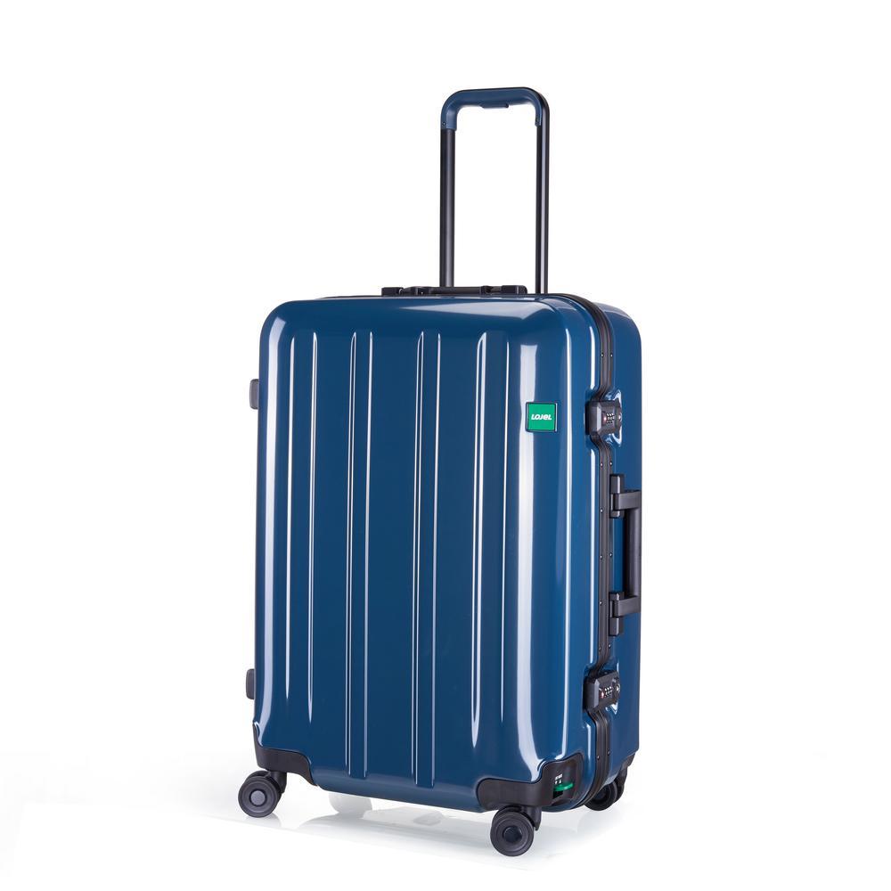 Novigo 26.2 in. Steel Blue Hardside Spinner Suitcase