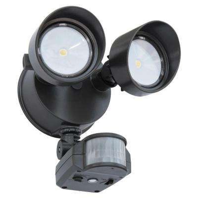 180-Degree Bronze Motion Activated Outdoor Integrated LED Security Flood Light