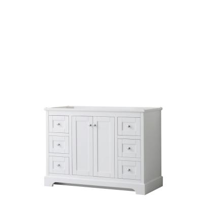 Avery 47.25 in. W x 21.75 in. D Bathroom Vanity Cabinet Only in White