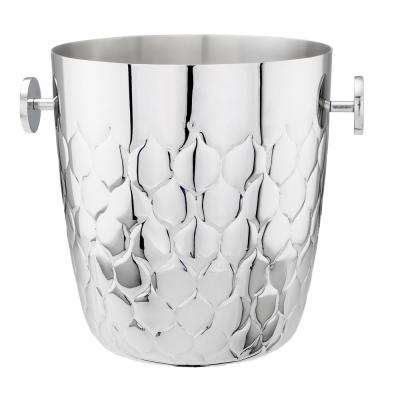 Avante 5 Qt. Embossed Stainless Steel Champagne Bucket