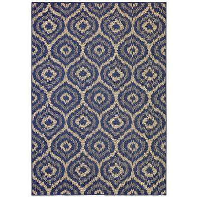 Morro Navy 10 ft. 6 in. x 14 ft. Area Rug