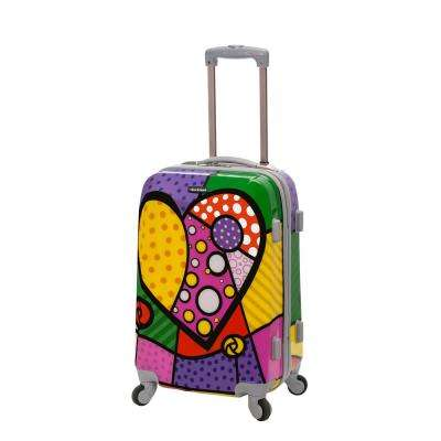 Vision 20 in. Heart Hardside Carry-On Suitcase