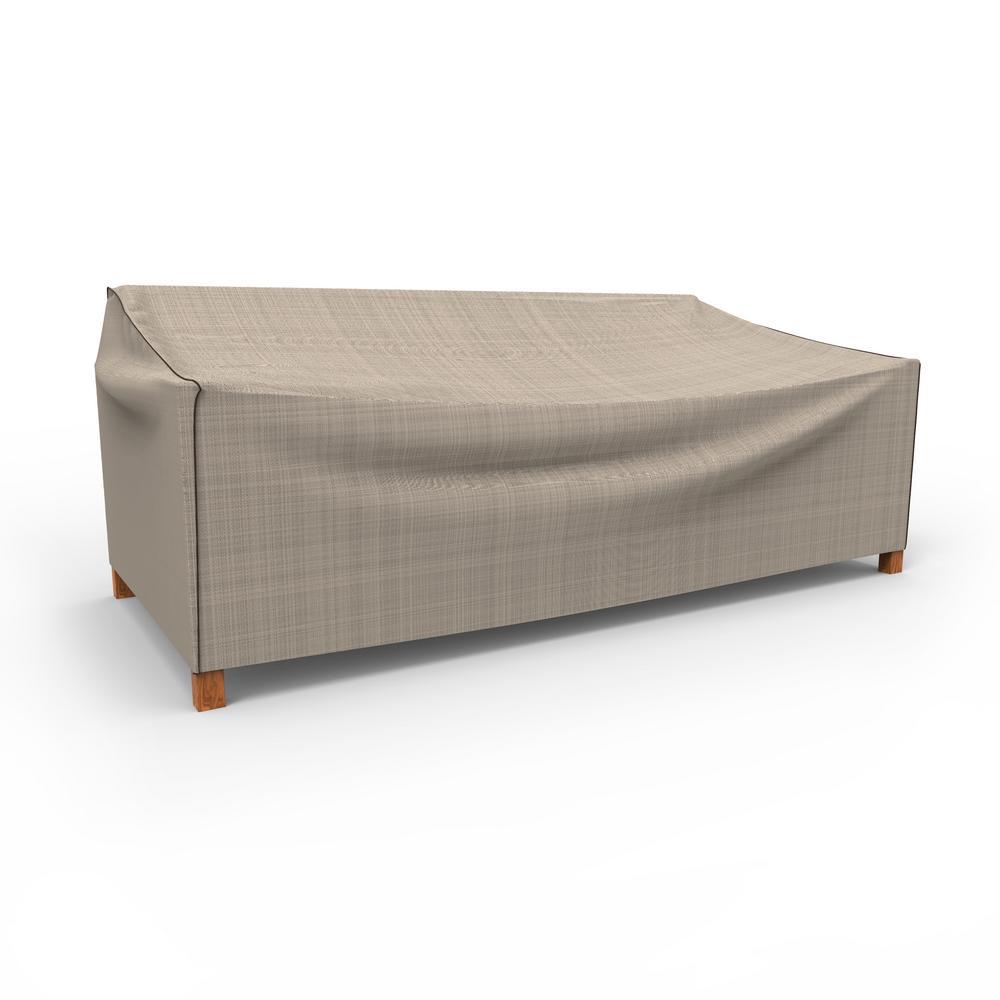 NeverWet Mojave Extra-Large Black Ivory Patio Sofa Cover