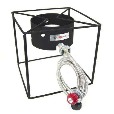 Propane Burner Turkey Fryer with High Pressure Propane Regulator and Hose and Detachable Legs