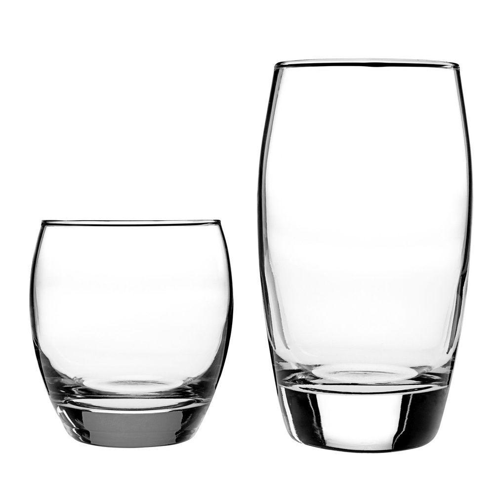16-Piece Drinkware Set - (8) 12 oz. and (8) 16 oz.