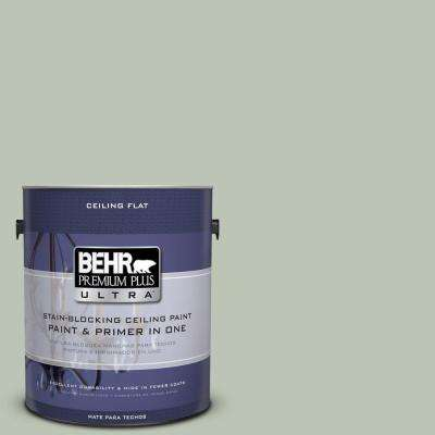 1 gal. #PPU11-11 Ceiling Tinted to Summer Green Flat Interior Paint and Primer in One
