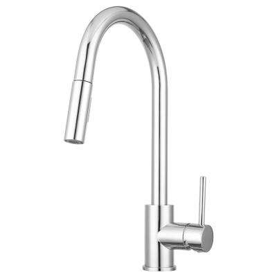 Bellevue Single-Handle Pull-Down Sprayer Kitchen Faucet with Multiple Spray Functions and Eco-Friendly Design in Chrome