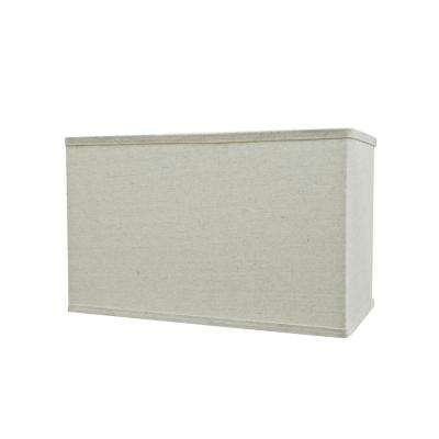 16 in. x 10 in. Light Grey Hardback Rectangular Lamp Shade