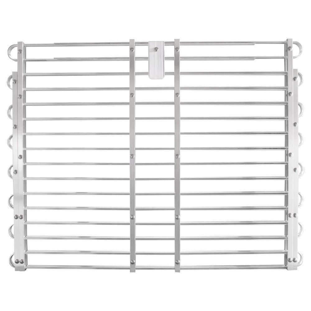 30 - 33 in. x 60 - 66 in. Adjustable Aluminum Window Well Grate