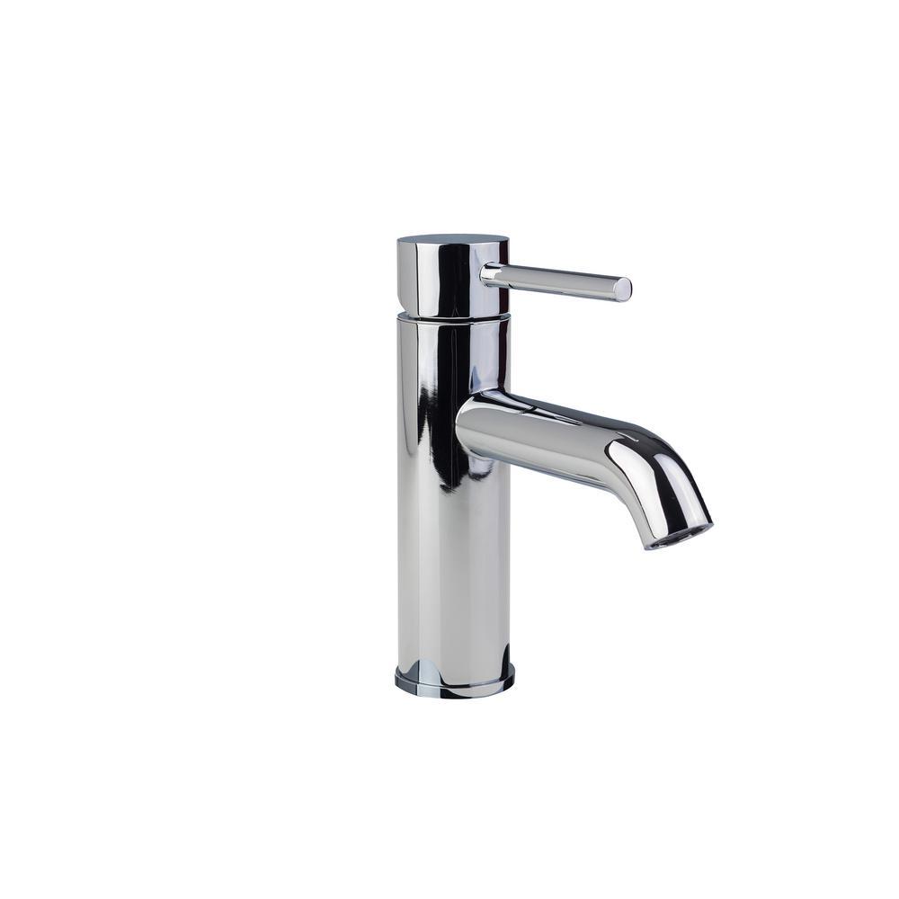 Contemporary Single Hole Single-Handle High-Arc Bathroom Faucet in Chrome