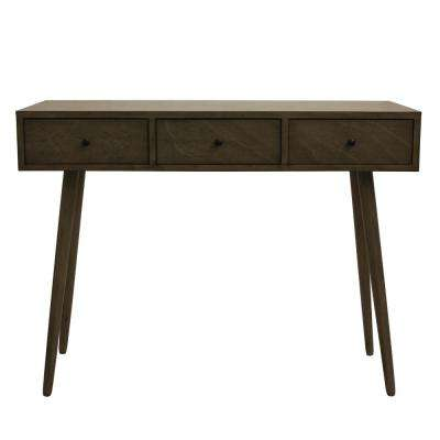 Mid Century Restoration Gray Console Table