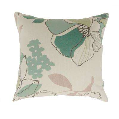 Emi 22 in. Contemporary Standard Throw Pillow in Multicolor