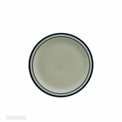 6.375 in. Blue Ridge Porcelain Narrow Rim Plates (Set of 36)