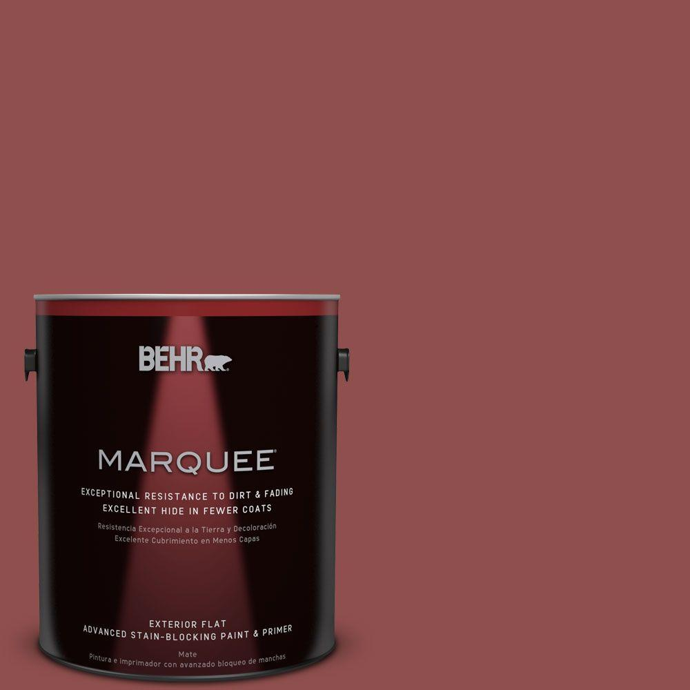 BEHR MARQUEE 1-gal. #S140-6 Moroccan Ruby Flat Exterior Paint