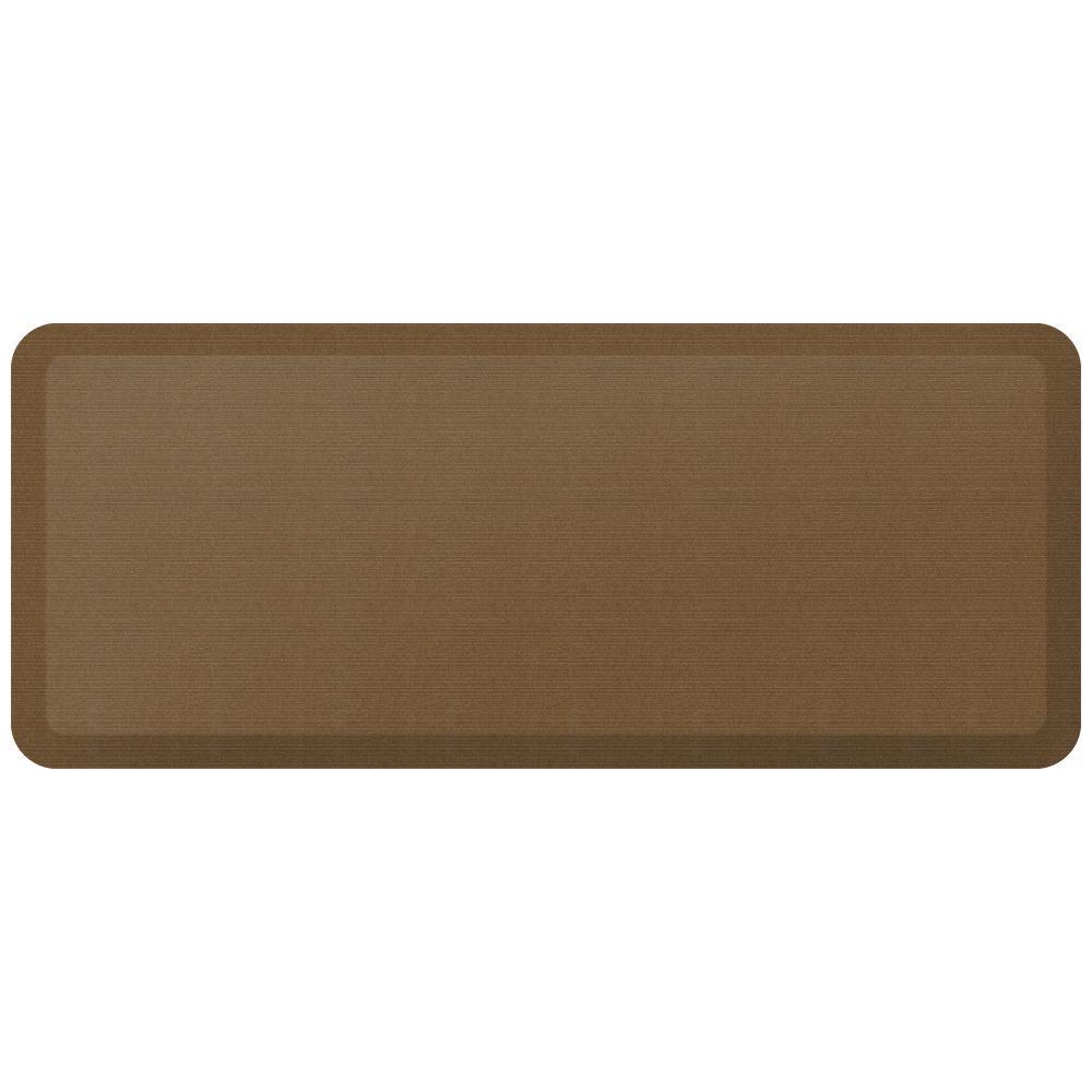 Designer Grasscloth Khaki 20 in. x 48 in. Anti-Fatigue Comfort Kitchen Mat