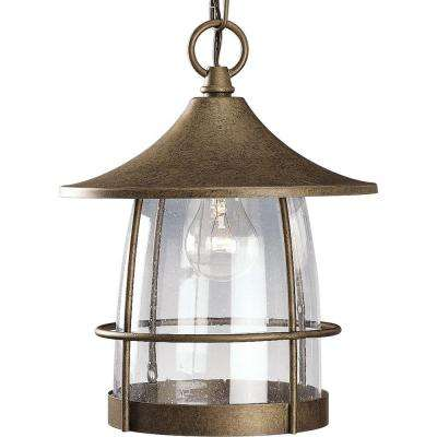 Prairie Collection Burnished Chestnut Outdoor Hanging Lantern