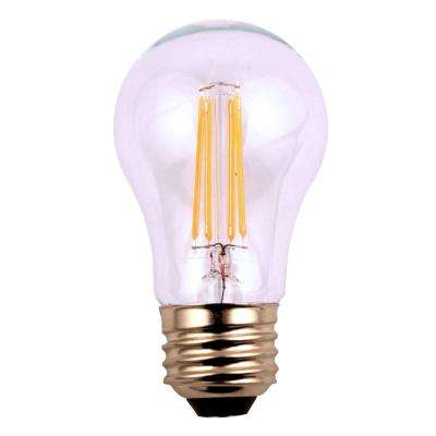 60W Equivalent Soft White A15 Filament Dimmable LED Light Bulb (12-Pack)