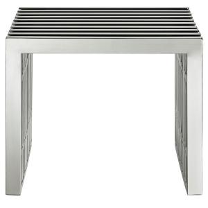 Gridiron Small Stainless Steel Bench in Silver
