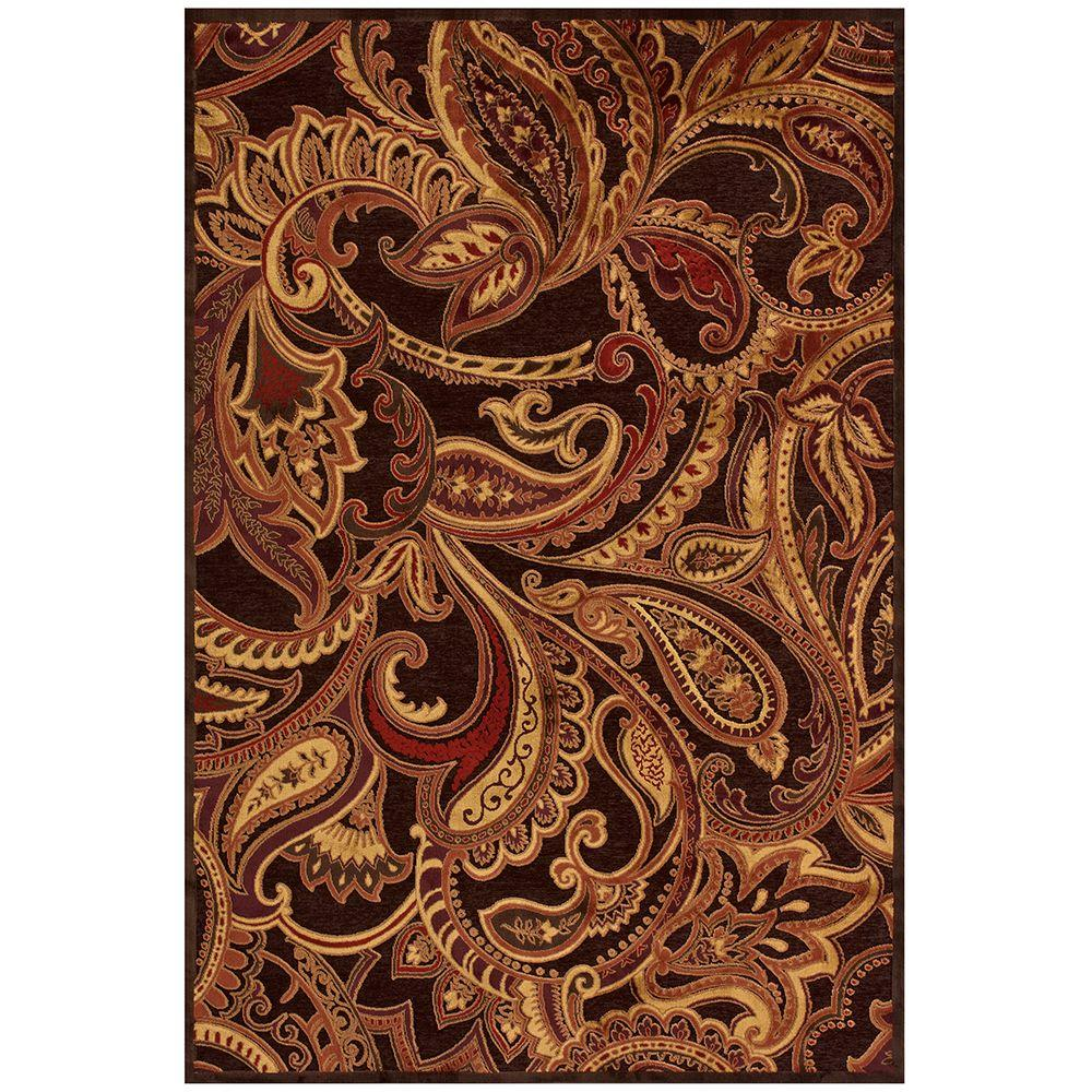 Feizy Saphir Azar Dark Chocolate/Rust 7 ft. 6 in. x 10 ft. 6 in. Indoor Area Rug