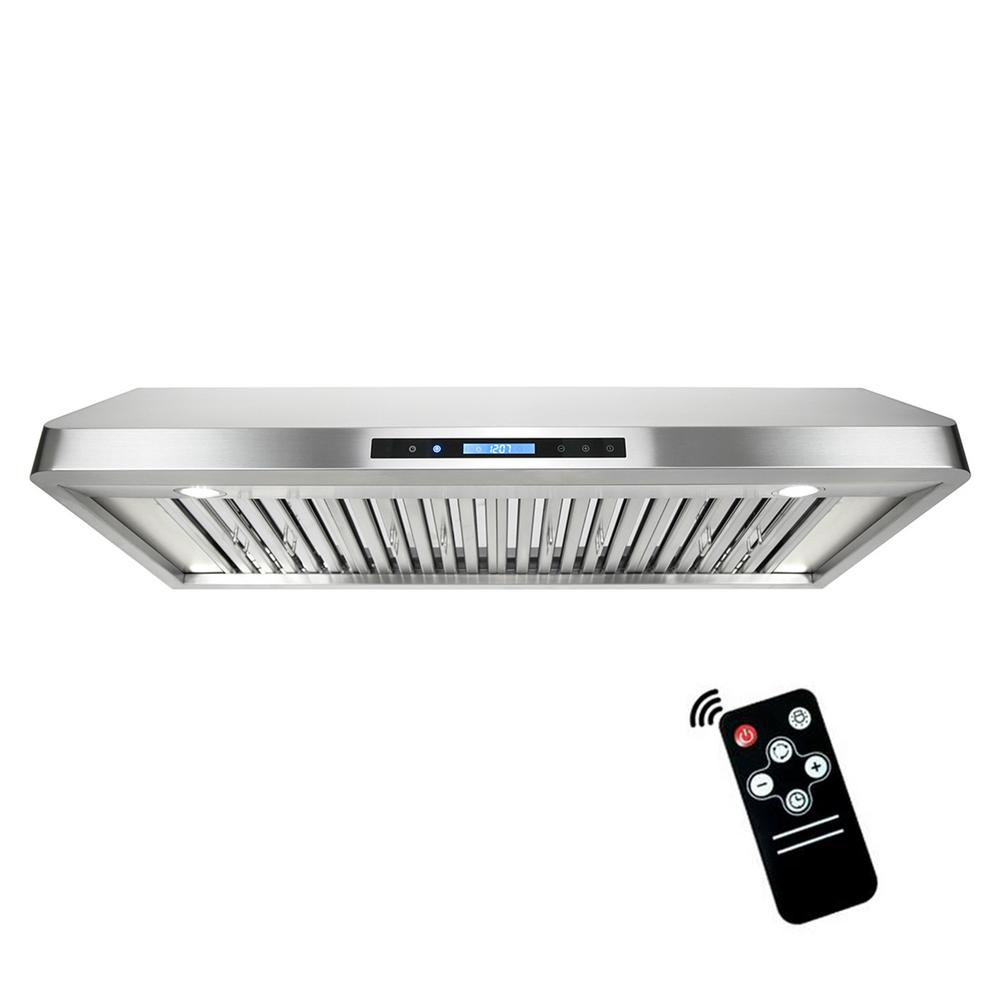 Ducted Under Cabinet Range Hood In Stainless Steel With Touchscreen, LED