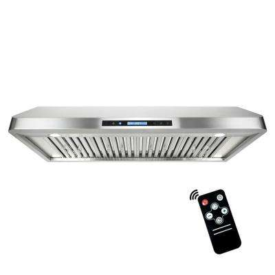 48 in. Ducted Under Cabinet Range Hood in Stainless Steel with Touchscreen, LED Lighting and Remote Control