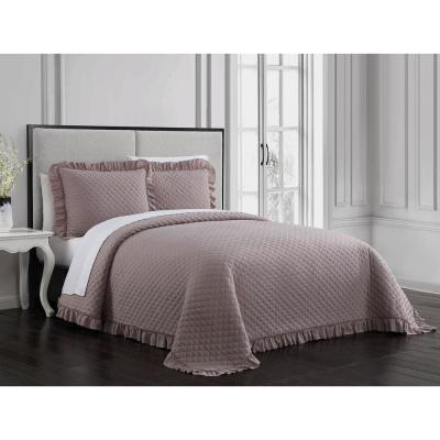 Gweneth 3-Piece Taupe Full/Queen Quilt Set