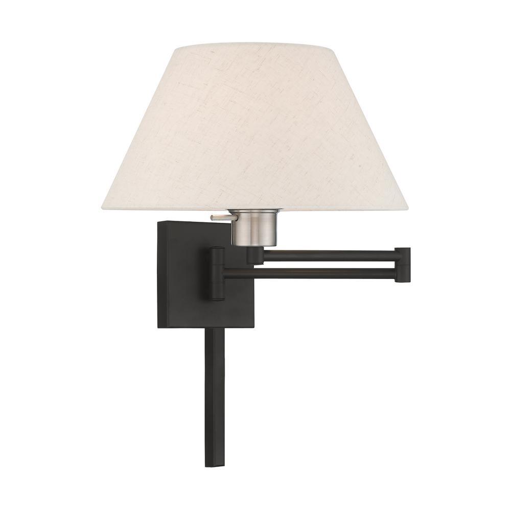 Livex Lighting 1 Light Black Swing Arm Wall Lamp
