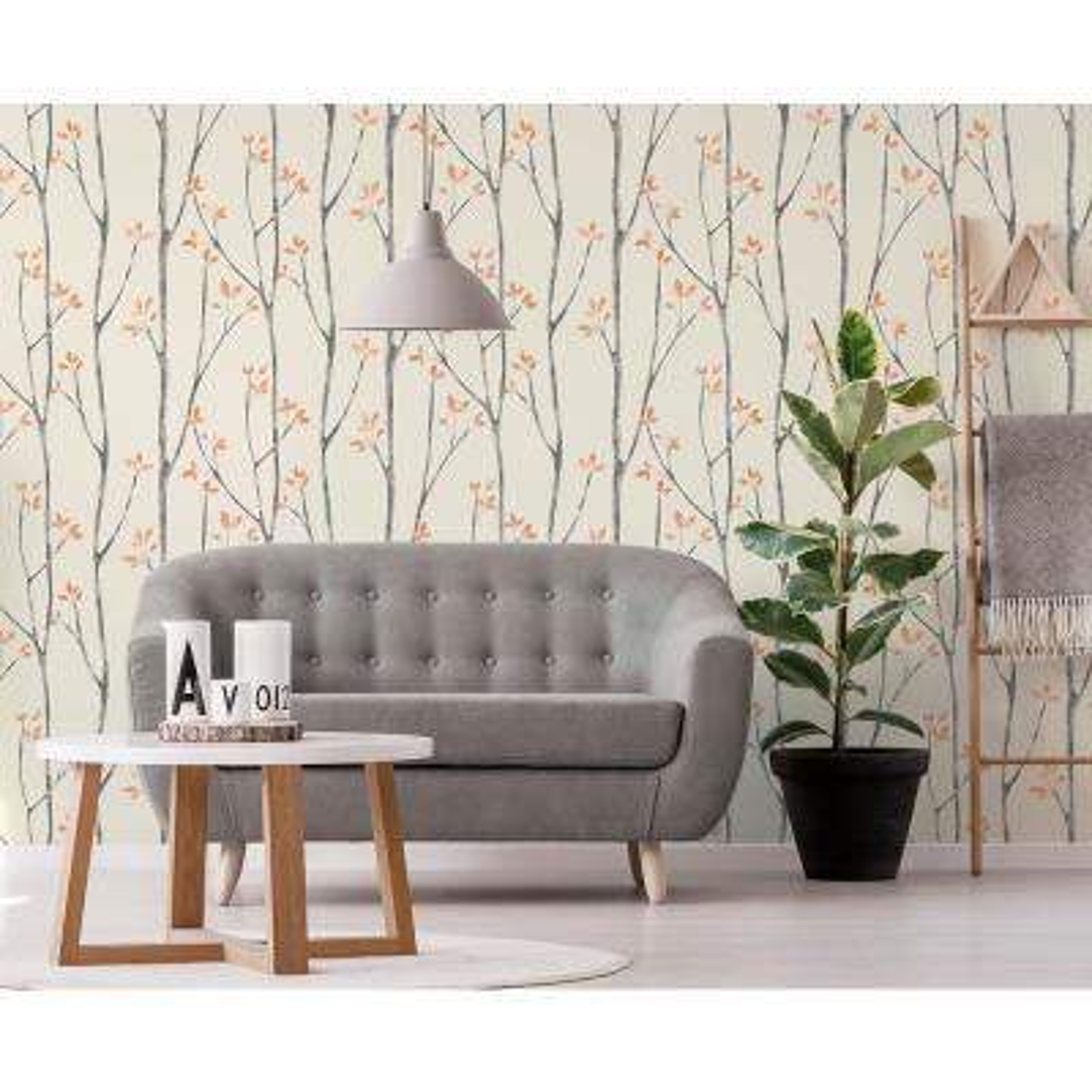 Fine Brewster 8 In X 10 In Ingrid Orange Scandi Tree Wallpaper Dailytribune Chair Design For Home Dailytribuneorg