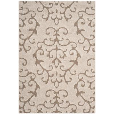 Florida Shag Cream/Beige 8 ft. x 10 ft. Area Rug
