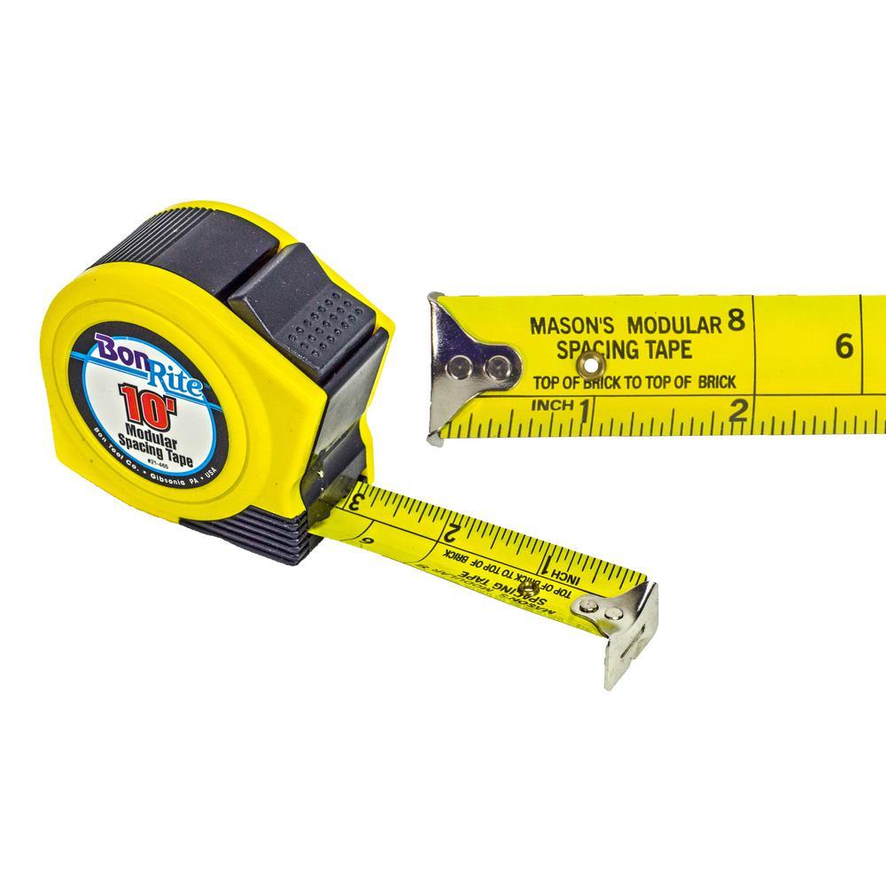 Bon Tool 10 ft. x 1 in. Economy Bon Rite Modular Spacing Tape Measure