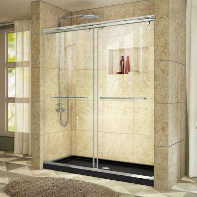 Charisma 34 in. x 60 in. x 78.75 in. Shower Kit in Chrome with Center Drain Shower Base