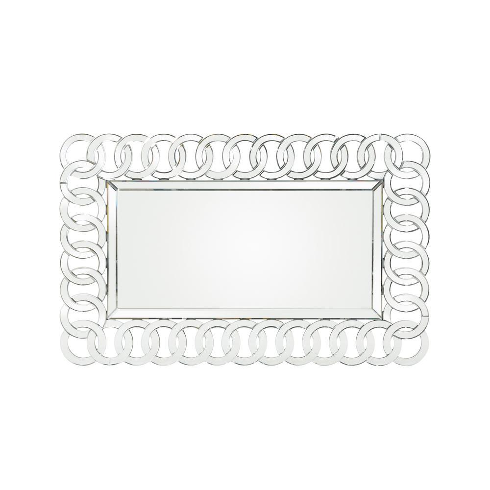 Coquette Modern Glam Rectangular Chain-Link Wall Mirror