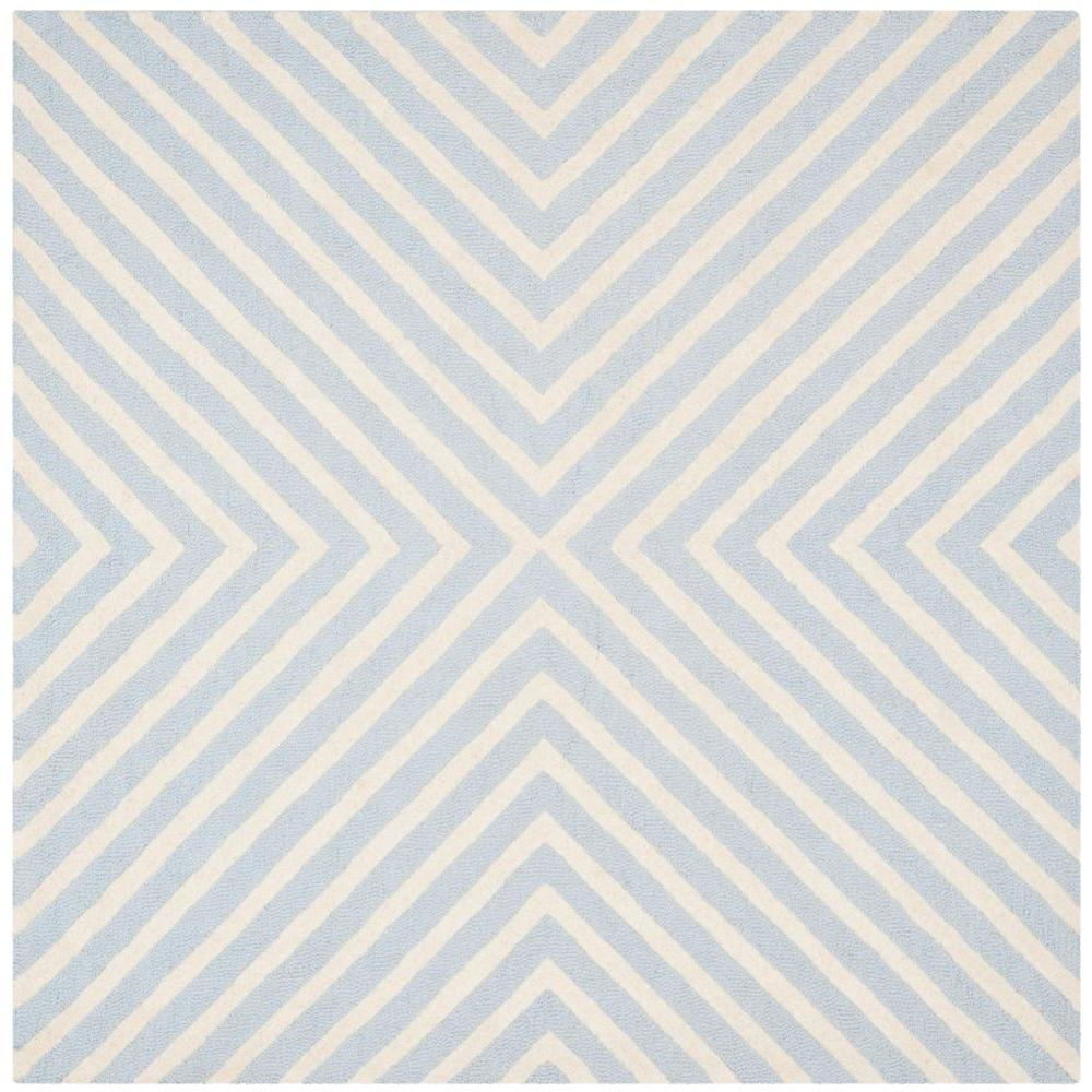 Safavieh Cambridge Light Blue Ivory 8 Ft X 8 Ft Square