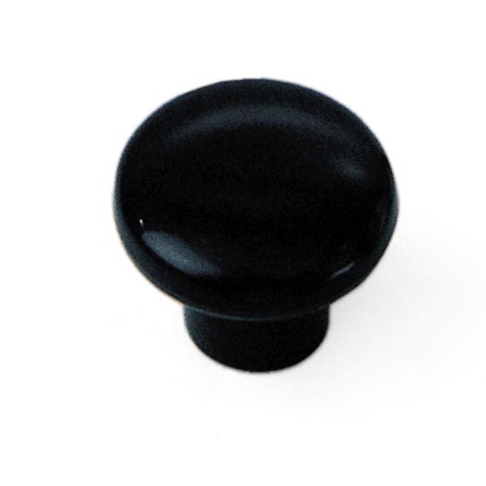 Plastics 1-1/4 in. Plastic Cabinet Knob