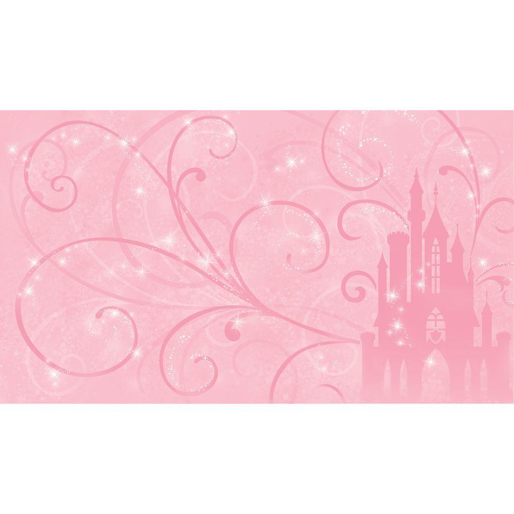 72 In X 126 In Disney Princess Scroll Castle Chair Rail Pre Pasted Wall Mural