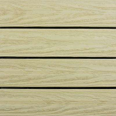 UltraShield Naturale 1 ft. x 1 ft. Quick Deck Outdoor Composite Deck Tile Sample in Sahara Sand