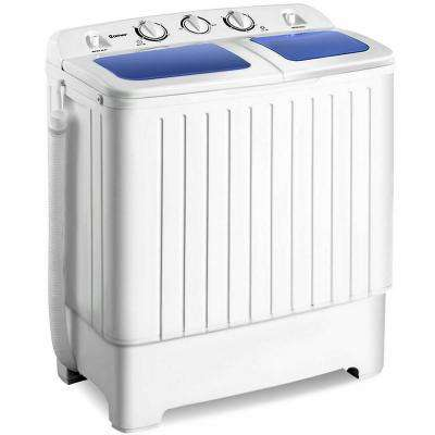 Portable Mini Washing Machine Washer Compact Twin Tub 17.6 lbs. Spin Spinner in White