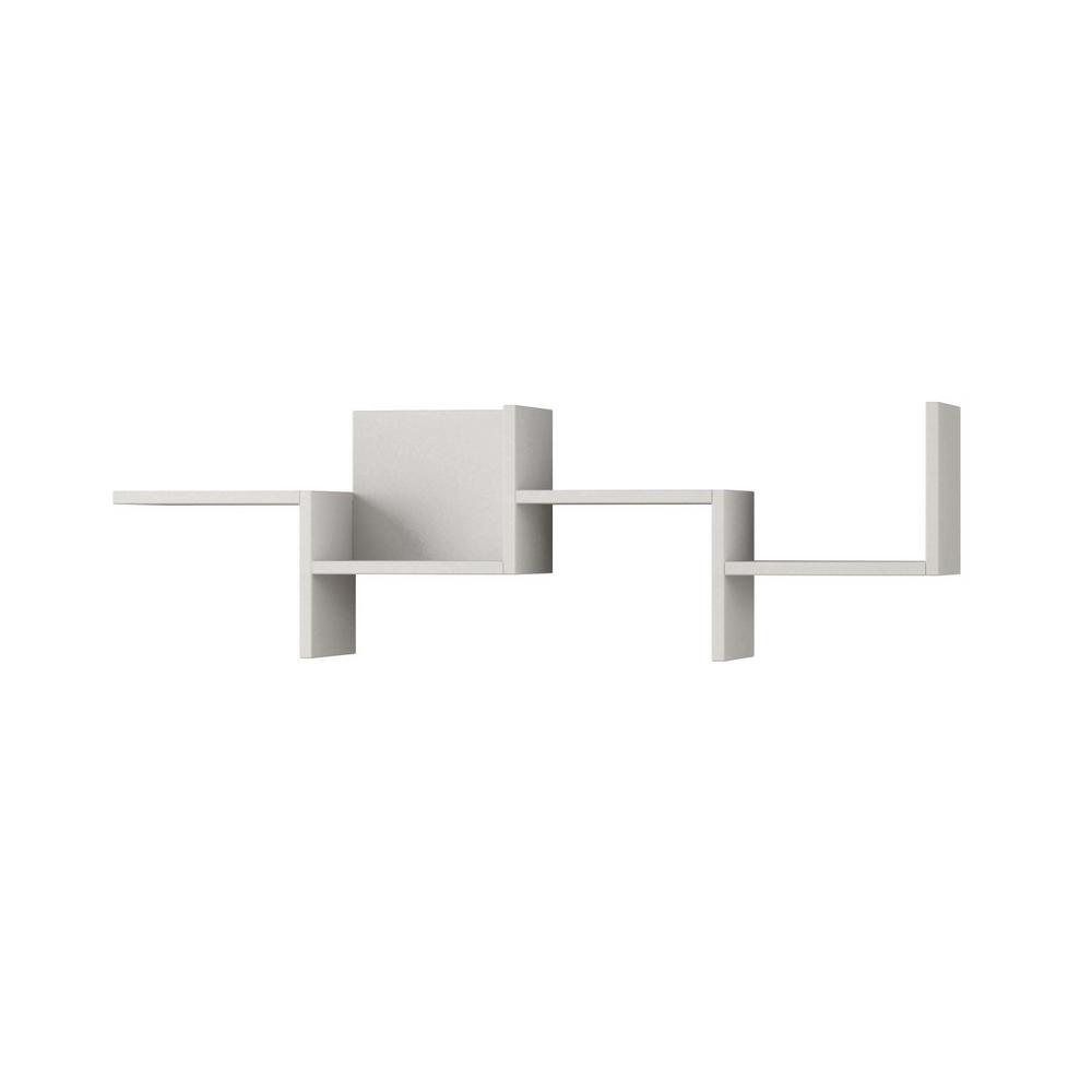 Ada Home Decor Watson White Mid-Century Modern Wall Shelf DCRW2021