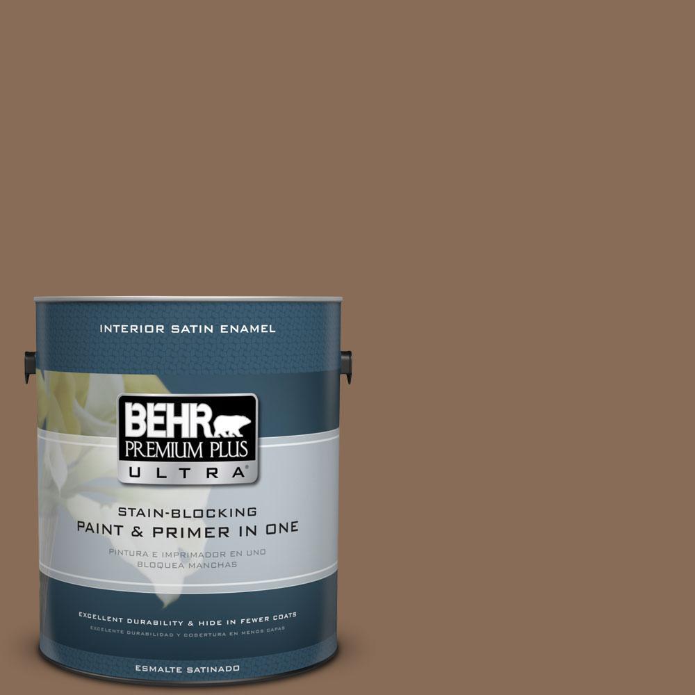 1-gal. #BNC-34 Spiced Latte Satin Enamel Interior Paint