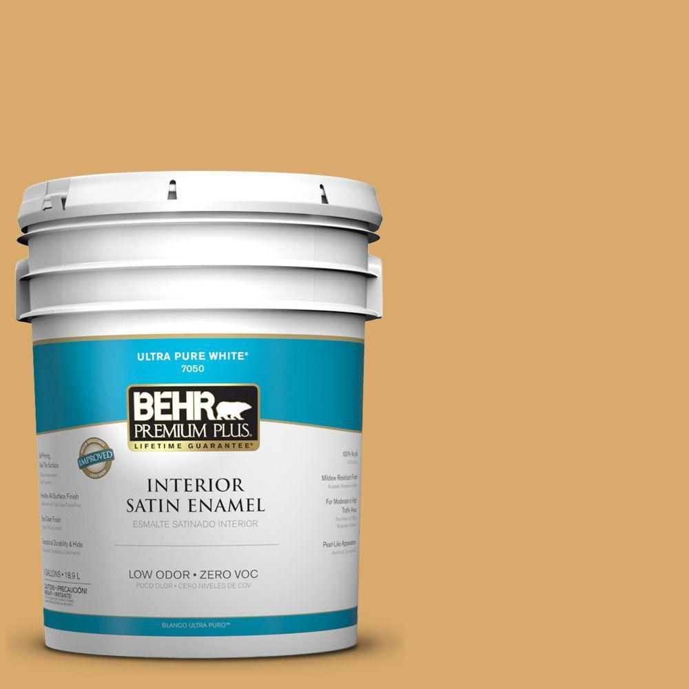 BEHR Premium Plus Home Decorators Collection 5-gal. #HDC-FL13-2 Corn Maze Satin Enamel Interior Paint - DISCONTINUED